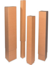 """12 1/2"""" x 12 1/2"""" x 48"""" 200#/ECT-32 Telescoping Outer Box Kraft Corrugated Cardboard Shipping Boxes"""
