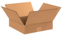 "15"" x 15"" x 3"" (200#/ECT-32) Flat Kraft Corrugated Cardboard Shipping Boxes"