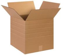 "15"" x 15"" x 15"" (200#/ECT-32) Multi-Depth Kraft Corrugated Cardboard Shipping Boxes"