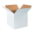 "16"" x 16"" x 16"" White Corrugated Cardboard Shipping Boxes 25/Bundle"