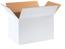 """18"""" x 12"""" x 12"""" (200#/ECT-32) White Corrugated Cardboard Shipping Boxes"""
