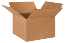 "18"" x 18"" x 12"" (275#/ECT-44) Heavy-Duty Single Wall Kraft Corrugated Cardboard Shipping Boxes"