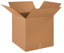 "18"" x 18"" x 18"" (275#/ECT-44) Heavy-Duty Single Wall Kraft Corrugated Cardboard Shipping Boxes"