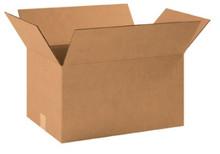 "18 1/2"" x 12 1/2"" x 10"" (200#/ECT-32) Kraft Corrugated Cardboard Shipping Boxes"