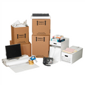 Office Moving Kit Packaging Supplies; Boxes, Bubble Dispenser Pack, Newsprint Sheets, Clear Carton Sealing Tape, Pistol Grip Tape Dispenser