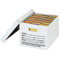 "15"" x 12"" x 10"" Auto-Lock Bottom File Storage Boxes 12/Bundle"