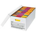 "24"" x 12"" x 10"" Auto-Lock Bottom File Storage Boxes 12/Bundle"