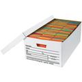 "24"" x 15"" x 10"" Auto-Lock Bottom File Storage Boxes 12/Bundle"