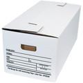 "24"" x 12"" x 10"" Interlocking Flap File Storage Boxes 12/Bundle"