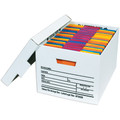"15"" x 12"" x 10"" Deluxe File Storage Boxes, Holds both legal or letter size files"