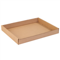 "15"" x 12"" x 1 3/4"" Kraft Corrugated Trays 50/Bundle"