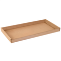 "24"" x 12"" x 1 3/4"" Kraft Corrugated Trays 50/Bundle"