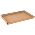 "24"" x 15"" x 1 3/4"" Kraft Corrugated Trays 50/Bundle"