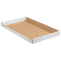 "24"" x 15"" x 1 3/4"" White Corrugated Trays 50/Bundle"