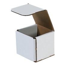 "3"" x 3"" x 3"" White Corrugated Mailers 50/Bundle"