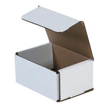 "4"" x 3"" x 2"" White Corrugated Mailers 50/Bundle"