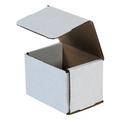 "4"" x 3"" x 3"" White Corrugated Mailers 50/Bundle"