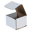"4"" x 4"" x 3"" White Corrugated Mailers 50/Bundle"