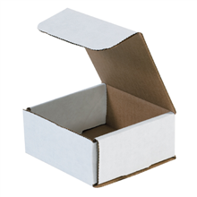 "4 3/8"" x 4 3/8"" x 2"" White Corrugated Mailers 50/Bundle"