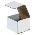 "4 3/8"" x 4 3/8"" x 3 1/2"" White Corrugated Mailers 50/Bundle"