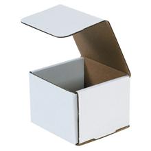 "4 3/8"" x 4 3/8"" x 3 1/2"" White Corrugated Mailers 50/Bundle"