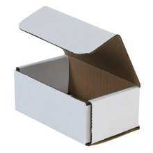"5"" x 3"" x 2"" White Corrugated Mailers 50/Bundle"