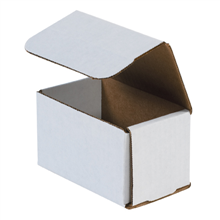 "5"" x 3"" x 3"" White Corrugated Mailers 50/Bundle"