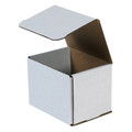 "5"" x 4"" x 4"" White Corrugated Mailers 50/Bundle"