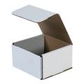 "5"" x 5"" x 3"" White Corrugated Mailers 50/Bundle"