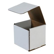 "5"" x 5"" x 4"" White Corrugated Mailers 50/Bundle"