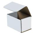 "5 1/2"" x 3 1/2"" x 3 1/2"" White Corrugated Mailers 50/Bundle"