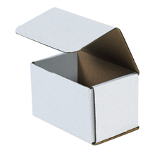 "5 1/2"" x 3 1/2"" x 3 1/2"" White Corrugated Mailers 50/Bundle"