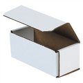 "6"" x 2 1/2"" x 2 3/8"" White Corrugated Mailers 50/Bundle"