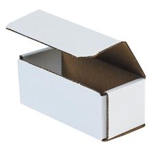 "6"" x 2 1/2"" x 2 3/8"" White Corrugated Mailers 50/Bundle"