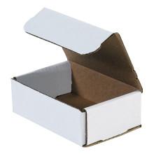 "6"" x 4"" x 2"" White Corrugated Mailers 50/Bundle"