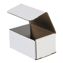 "6"" x 4"" x 3"" White Corrugated Mailers 50/Bundle"