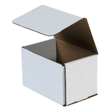 "6"" x 4"" x 4"" White Corrugated Mailers 50/Bundle"