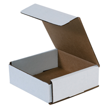 "6"" x 6"" x 2"" White Corrugated Mailers 50/Bundle"