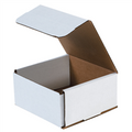 "6"" x 6"" x 3"" White Corrugated Mailers 50/Bundle"
