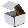 "6"" x 6"" x 4"" White Corrugated Mailers 50/Bundle"