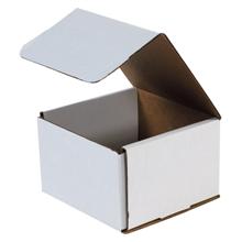 "6"" x 6"" x 4"" White Corrugated Mailers 50/Bundle"