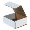 "6 3/16"" x 5 3/8"" x 2 1/2"" White Corrugated Mailers 50/Bundle"
