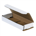 "6 1/2"" x 2 1/2"" x 1"" White Corrugated Mailers 50/Bundle"