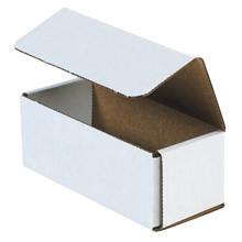 "6 1/2"" x 2 3/4"" x 2 1/2"" White Corrugated Mailers 50/Bundle"