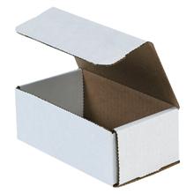 "6 1/2"" x 3 5/8"" x 2 1/2"" White Corrugated Mailers 50/Bundle"