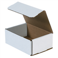 "6 1/2"" x 4 1/2"" x 2 1/2"" White Corrugated Mailers 50/Bundle"