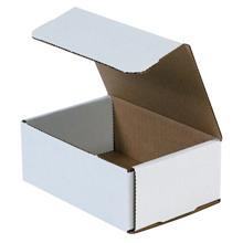 "6 1/2"" x 4 1/2"" x 2 1/2"" White Corrugated Mailers 50/Bundle"