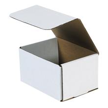 "6 1/2"" x 4 7/8"" x 3 3/4"" White Corrugated Mailers 50/Bundle"