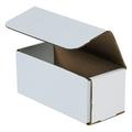 "7"" x 3"" x 3"" White Corrugated Mailers 50/Bundle"