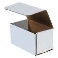 "7"" x 4"" x 4"" White Corrugated Mailers 50/Bundle"
